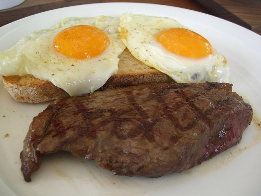 eggs and steak